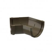 Угол водосточного желоба Docke Premium 135˚ D-120, Каштан