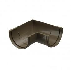 Угол водосточного желоба Docke Premium 90˚ D-120, Каштан
