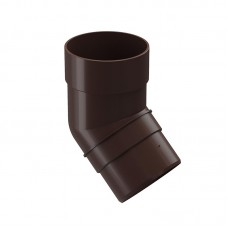 Колено водосточной трубы Docke Premium 45˚ D-85, Шоколад