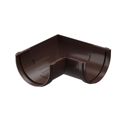 Угол водосточного желоба Docke Premium 90˚ D-120, Шоколад