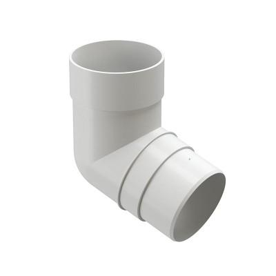 Колено водосточной трубы Docke Premium 72˚ D-85, Пломбир