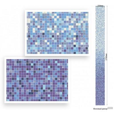 Панель ПВХ Век Мозаика ультрамарин - длина 2.7м